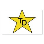 TD Star Sticker (Rectangle 10 pk)