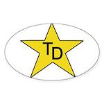 TD Star Sticker (Oval 50 pk)