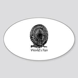 World's Fair (2) Oval Sticker