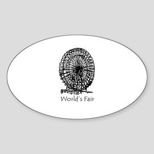 World's Fair (2) Oval Sticker