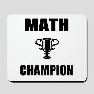 math champ Mousepad