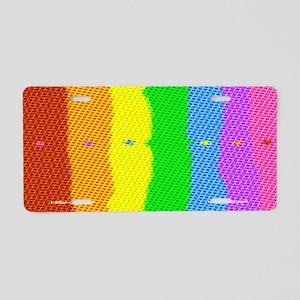 Geo Doric Plaid Aluminum License Plate