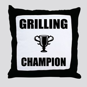 grilling champ Throw Pillow