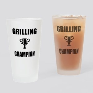 grilling champ Drinking Glass
