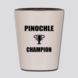 pinochle champ Shot Glass