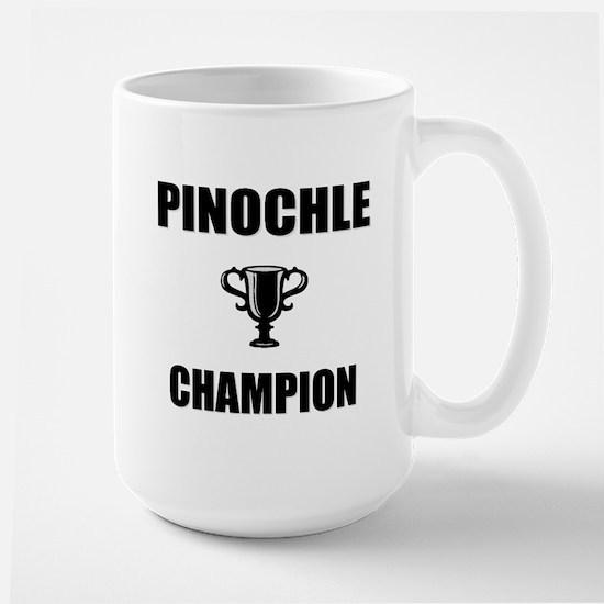 pinochle champ Large Mug