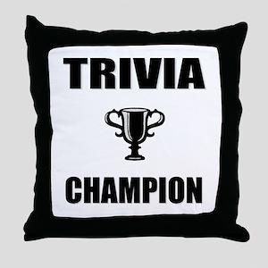 trivia champ Throw Pillow