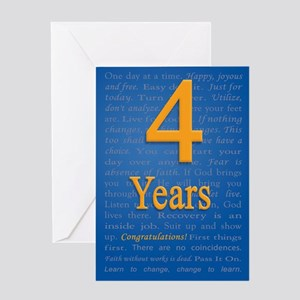 4 year recovery birthday Greeting Card
