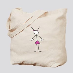 stickgirl Tote Bag