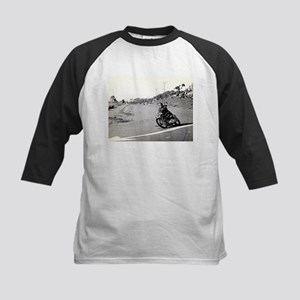 Motorcycle Race # 10 Kids Baseball Jersey