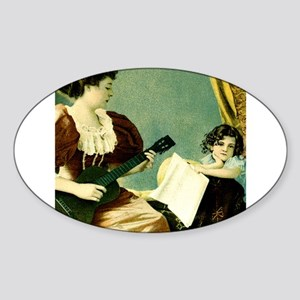 Antique Music Lesson Sticker (Oval)
