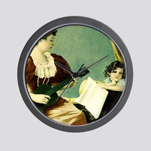 Antique Music Lesson Wall Clock