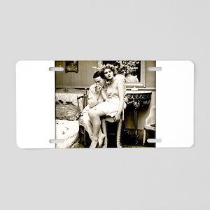 xx Vintage Kisses xx Aluminum License Plate