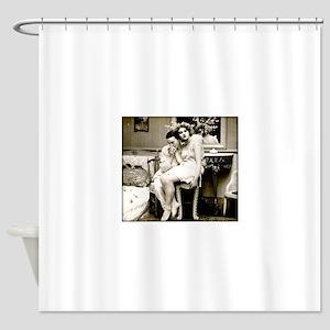 xx Vintage Kisses xx Shower Curtain