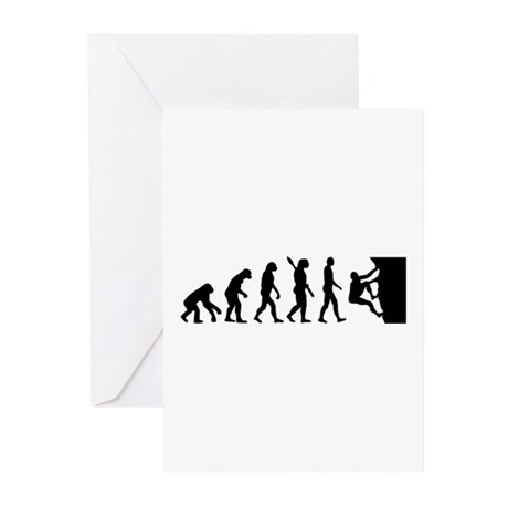 Evolution climbing Greeting Cards (Pk of 10)