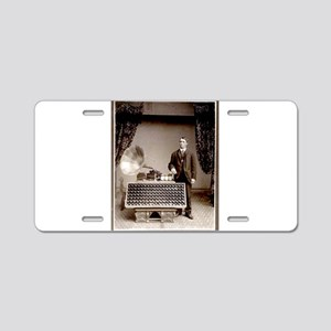 The Phonograph Aluminum License Plate