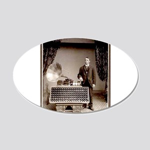 The Phonograph 20x12 Oval Wall Decal