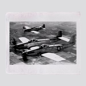 Propeller Planes Throw Blanket