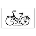 Bike Design Sans Basket Sticker (Rectangle)