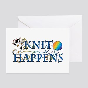 Knit Happens (Cat) Greeting Cards (Pk of 10)