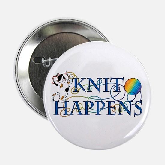 """Knit Happens (Cat) 2.25"""" Button (10 pack)"""