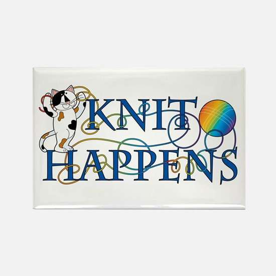 Knit Happens (Cat) Rectangle Magnet