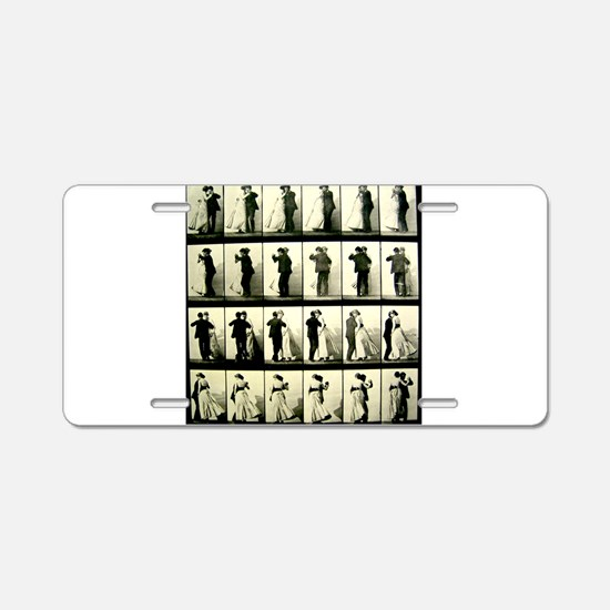 Vintage Dance Sequence Aluminum License Plate