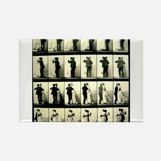 Vintage Dance Sequence Rectangle Magnet