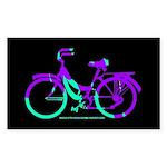 80s Style Bicycling Stivker Sticker (Rectangle)
