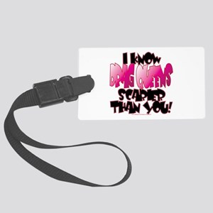 DRAG QUEENS white Large Luggage Tag