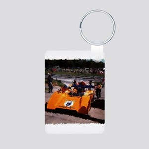 Orange 5: Can-Am MacLaren Aluminum Photo Keychain
