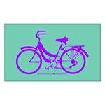 Bike Design 80s/90s Colors Sticker (Rectangle)
