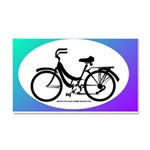 Bicycle Decal Car Magnet 20 x 12