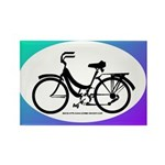 Bicycle Decal Rectangle Magnet