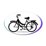 Bicycle Decal 20x12 Oval Wall Decal