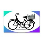 Bicycle Decal with basket Rectangle Car Magnet