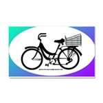 Bicycle Decal with basket Car Magnet 20 x 12
