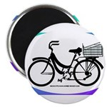 Bicycle Decal with basket Magnet