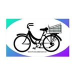 Bicycle Decal with basket 35x21 Wall Decal