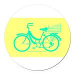 70s/80s Colours Bike Round Car Magnet