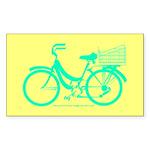 70s/80s Colours Bike Sticker (Rectangle)