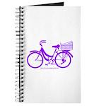 Purple Bike with Basket Journal