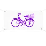 Purple Bike with Basket Banner