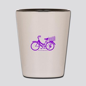 Purple Bike with Basket Shot Glass