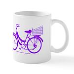 Purple Bike with Basket Mug