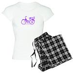 Purple Bike with Basket Women's Light Pajamas