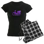 Purple Bike with Basket Women's Dark Pajamas