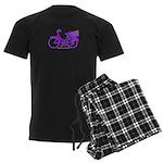 Purple Bike with Basket Men's Dark Pajamas