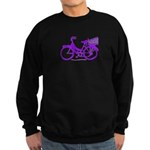 Purple Bike with Basket Sweatshirt (dark)