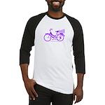 Purple Bike with Basket Baseball Jersey